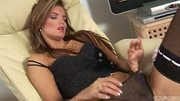 Elegant Suzi plays with her snatch - Trion Media