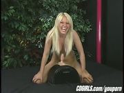 Holly's Wild Sybian orgasm