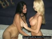 ALLIE MEETS A SPICY LATINA GIRL ?? AMATEUR BI WIVES