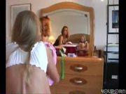 Two amateur girls in one scene