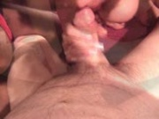 Sharing and devouring  his cock
