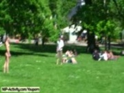 July - Hot German Flasher Has Fun In Public