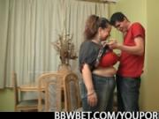 Busty fat girl skinny guy sex
