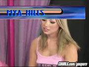 Charlie Laine controls the sybian for Maya