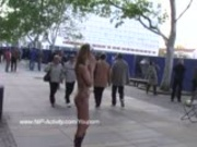 Hot public nudity with sweet german babe