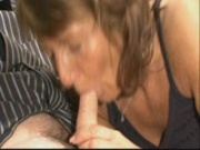 Grandma and grandpa suck and lick each other