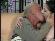 Pale German girl gets a big dick in her
