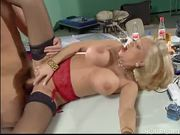 blonde fucked on table top