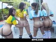 BFFS - Latina Teens Play & Fuck Futbol Coach
