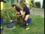 Gardner plows her flower garden