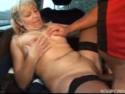 Milf Getting Fucked in a Van