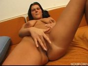 Brunette doing a pussy massage pt 2/4