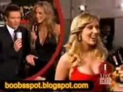 Scarlett Johansson boobs squeezed