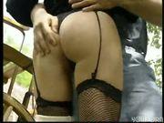 Jockey girl fucks the stableboy - DBM Video