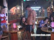 Wives and girlfriends suck male strippers cock.