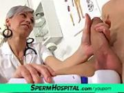 Slim czech milf doctor Beate wanking young stiff cock
