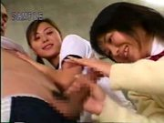 Japanese guy getting it from two girls