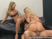 Blonde Office Threesome