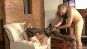 Sexy blonde Latina tranny takes it up the butt - Latin-Hot