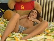 Czech amateur Christine masturbates with vibrator