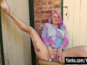 Tattooed Zahra Masturbating Outdoors