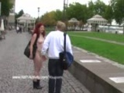 Crazy Redhead Nude On The Road