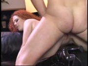 Fiery redhead gets her ass fucked 