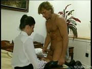 Two couple in two seperate rooms anal fucking