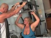 Hot Blonde BBW Fucks Her Trainer At The Gym