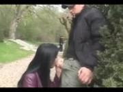 SUZIE DIAMOND SUCKS A STRANGER IN A FRENCH PARK