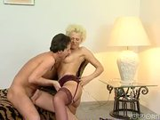 Bleached German blonde knows how to fuck