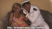 Sailor fucks granny