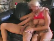 Blonde's pert little butthole gets reamed out