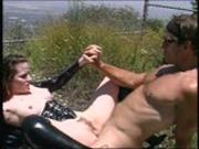 Biker and his girlfriend enjoy fucking