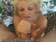 My Ex Wifes Big Boobies and Face get cum Splat