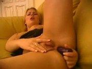Sexy blonde girl anal orgasm