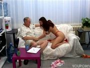 Czech babe Claudia Rossi shoots a scene with Robert