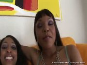 Three Black Lesbians Lick Out Each Others Pussy