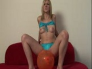 Samatha plays with her balloon  Pt.1/2