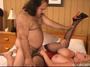 Ron Jeremy makes love to a mature buxom woman - Pt. 2/4