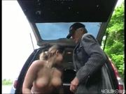 Old man bangs broken down hottie