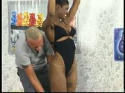Black girl double spooged - DBM Video