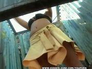 beach cabin spy voyeur