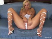 Busty Sheila Grant Loves To Work Her Pussy Hard