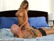 Cheating Hubby busted for Erotic Home Massage from Destiny Dixon
