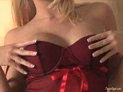 Shawna Lenee Rubs Her Shaved Pussy