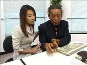 Japanese girl gets horny during work hours