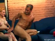 He wants her strapped up with dildo [CLIP]