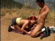 Very red headed blow job outdoors - Pt. 2/2