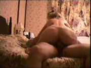Wife rides hubbies cock